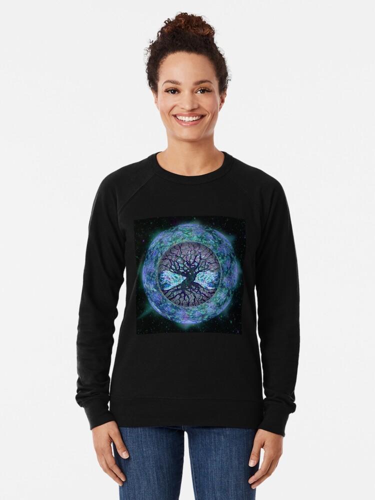 Alternate view of Planet Earth Circle of Life Lightweight Sweatshirt