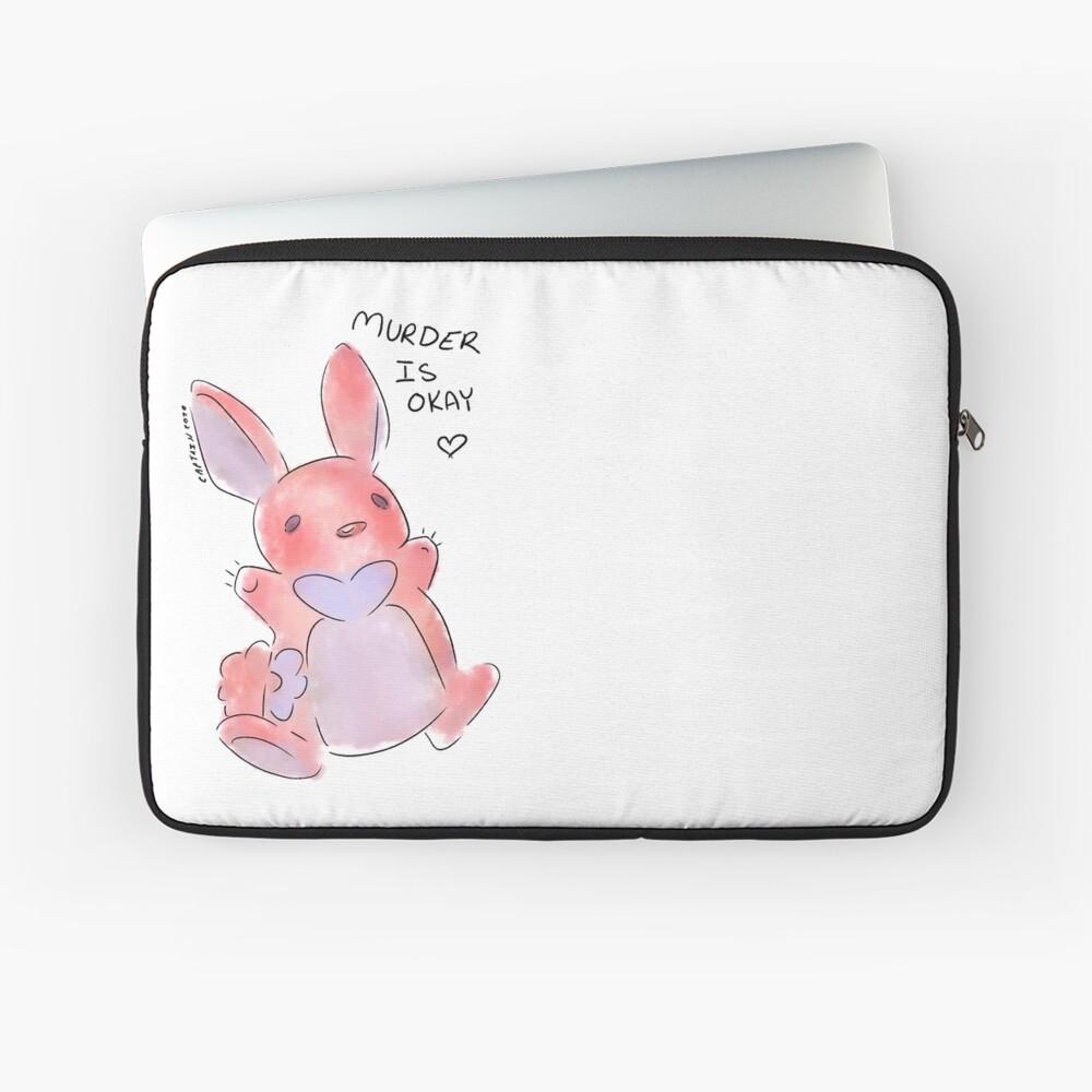 melffy bunny murder if okay yugioh laptop sleeve by sharky arty redbubble