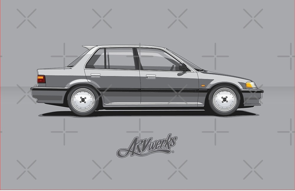 "Ef Civic Sedan: ""Honda Civic Mk4 (EF) 4door Sedan 2"" By ARVwerks"