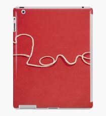 Love hearth yarn postcard iPad Case/Skin
