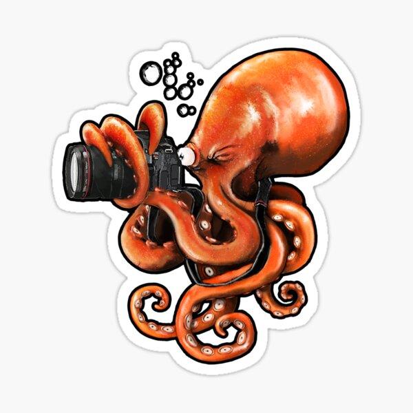 Octopus Reporter Sticker