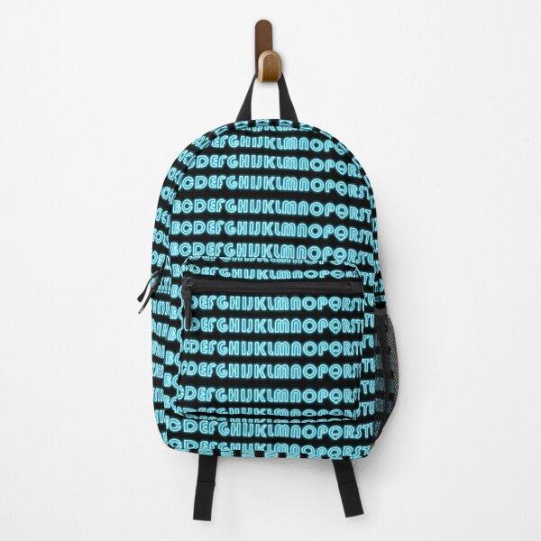 Neon text alphabet Backpack