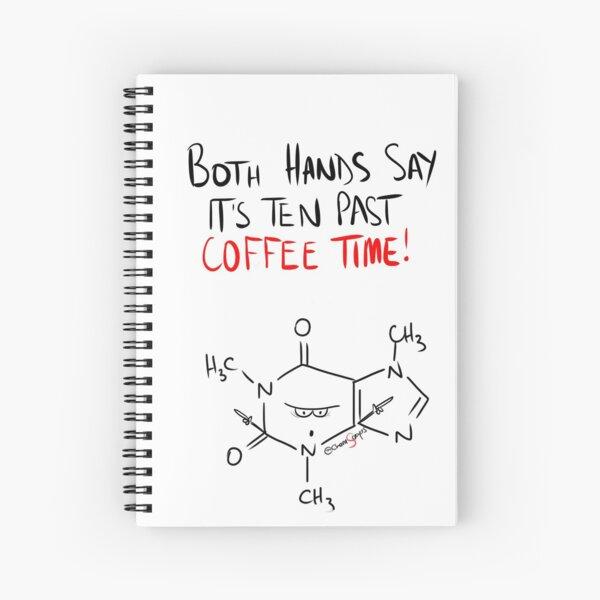 Grumpy Caffeine Clock Spiral Notebook