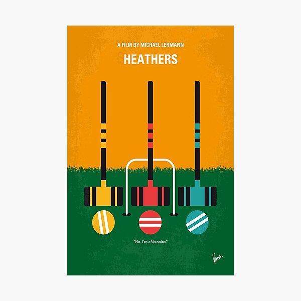 No1216 My Heathers minimal movie poster Photographic Print