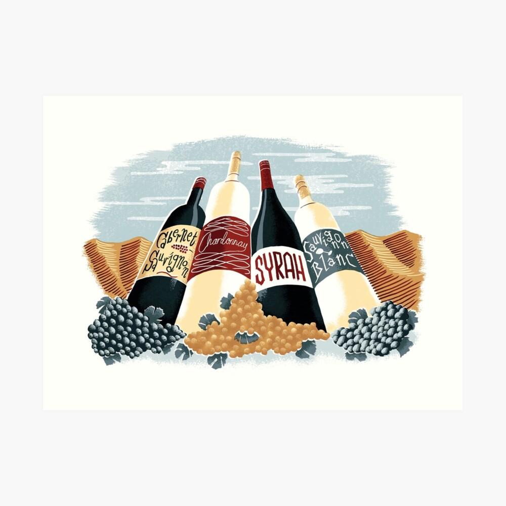 Wine, glorious wine! Art Print