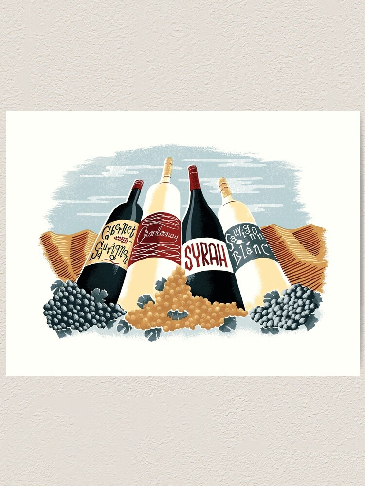 Alternate view of Wine, glorious wine! Art Print