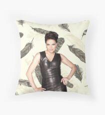 Lana Parrilla (feather) Throw Pillow