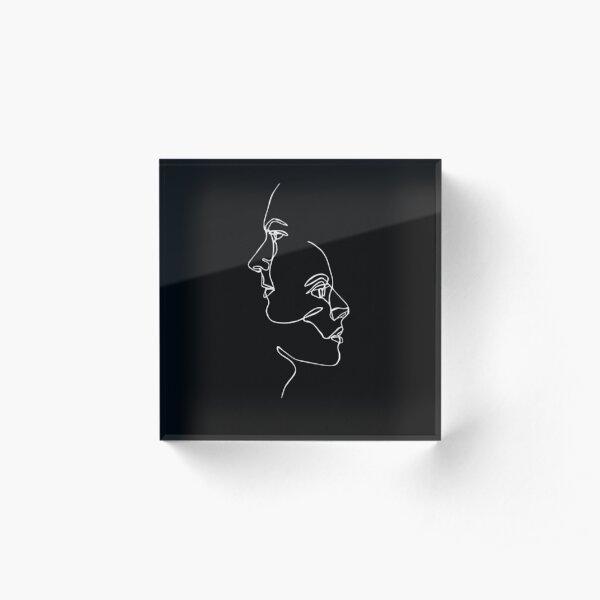 Continuous Line Faces Acrylic Block