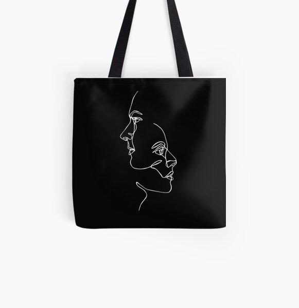 Girl Artwork Tote Bag Original Art on Tote Bags Shoulder Carry On Bag Black Girl Art Tote Girl Canvas Bag Environmental Friendly