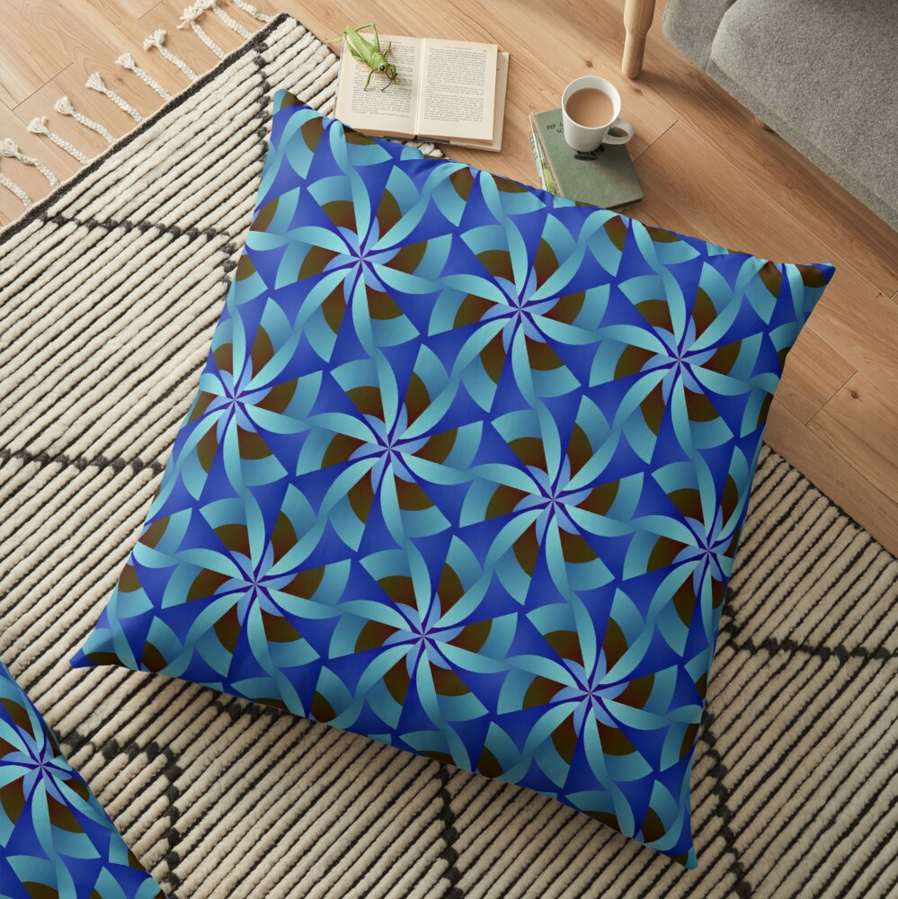 Abstract Geometric Pattern Design 364 Floor Pillow