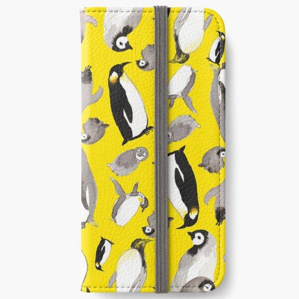 Yellow Penguin Potpourri iPhone Wallet