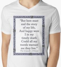 But Here Must End The Story - Shakespeare Men's V-Neck T-Shirt