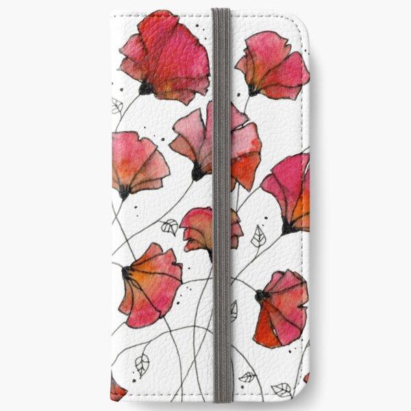 Wild poppies iPhone Wallet