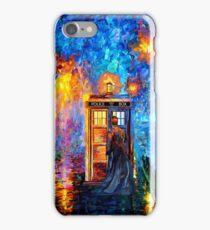 Time Traveller lost in the strange city art painting iPhone Case/Skin
