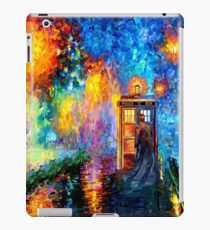 Time Traveller lost in the strange city art painting iPad Case/Skin