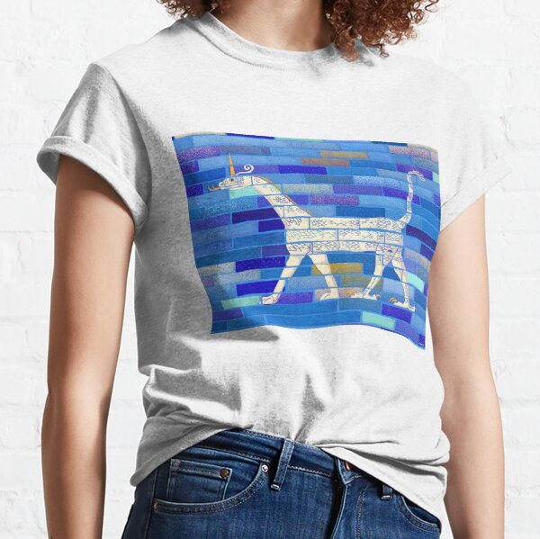 Snake-headed dragon illustration from Babylon Ishtar Gate for history lovers, archeology enthusiasts, or dragons and unicorns fans Classic T-Shirt