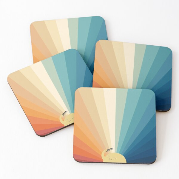 Sunshine will be ready in a minute Coasters (Set of 4)