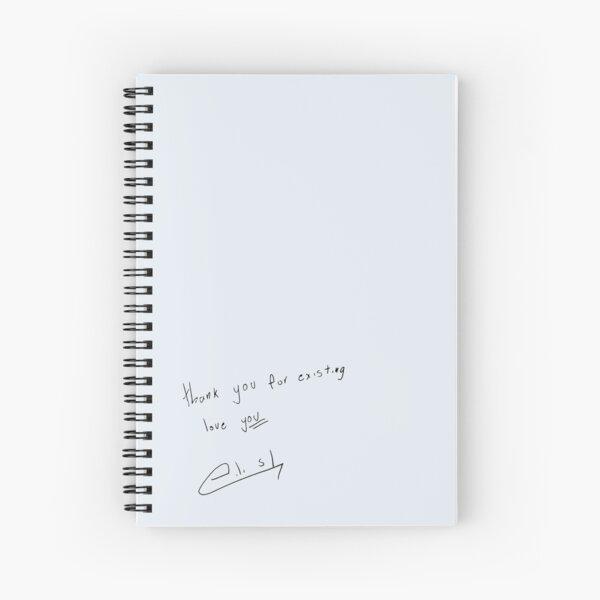 b's handwriting + signature  Spiral Notebook
