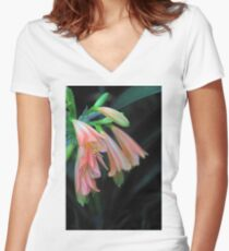 Pink Beauty Women's Fitted V-Neck T-Shirt