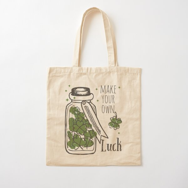 Make Your Own Luck Cotton Tote Bag
