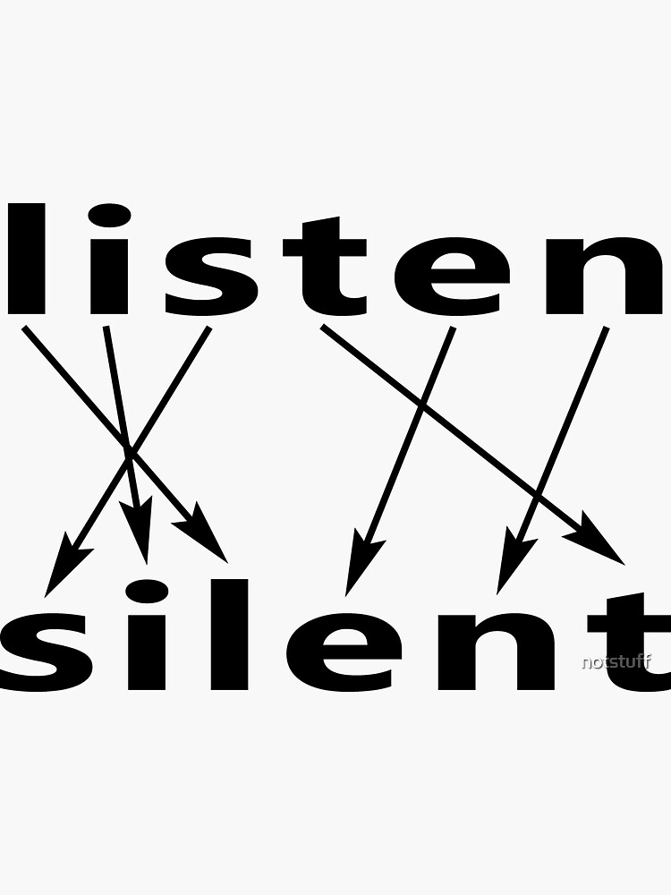 Listen Equals Silent - To Hear, You Must Be Quiet by notstuff