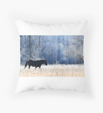 Horse and Owl Throw Pillow