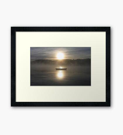 Waiting for fun - Dock on lake Framed Print