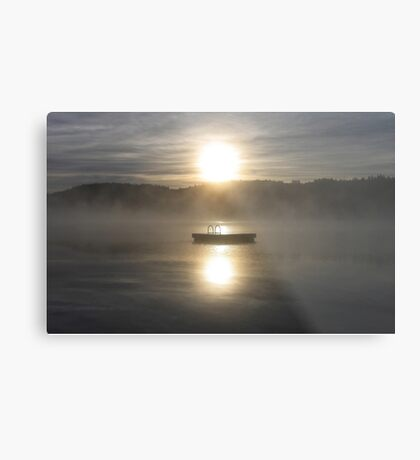 Waiting for fun - Dock on lake Metal Print