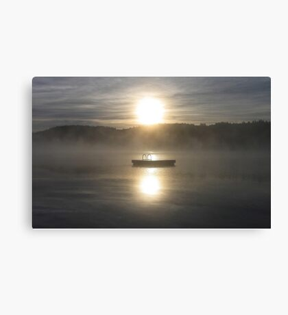 Waiting for fun - Dock on lake Canvas Print