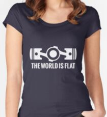 The World is Flat Women's Fitted Scoop T-Shirt