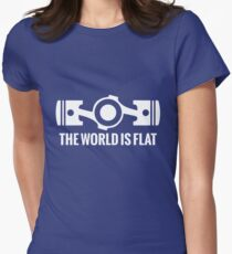 The World is Flat Womens Fitted T-Shirt