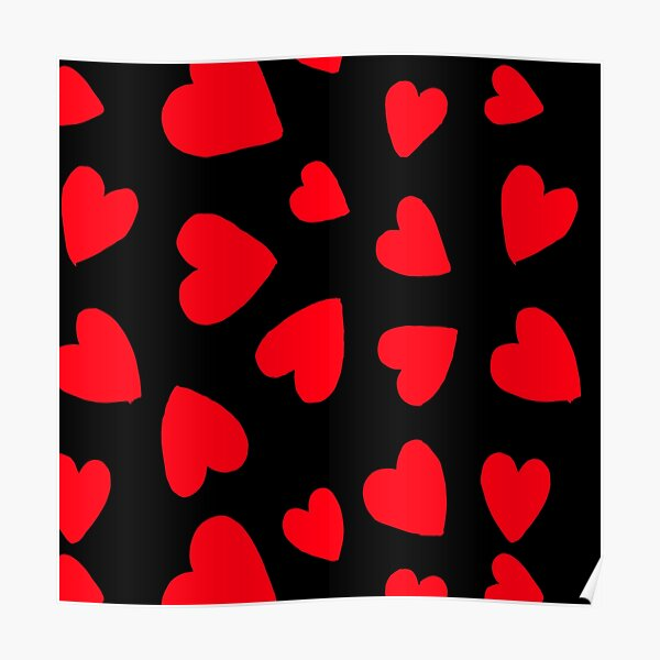 Hearts Pattern Poster