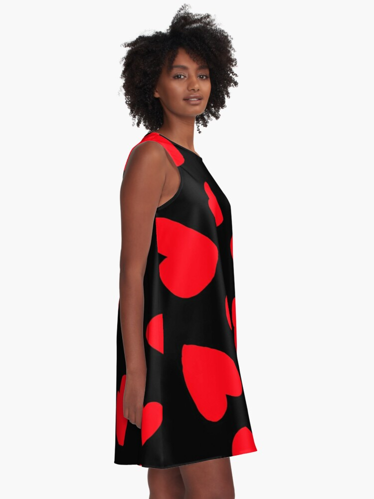 Alternate view of Hearts Pattern A-Line Dress
