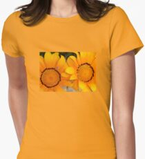 Two Orange Gazania Flowers with Snail T-Shirt
