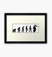 The Evolution of Surfing Framed Print