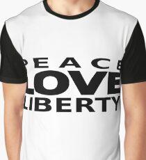 Peace Love Liberty Graphic T-Shirt