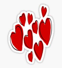 Love And Heart Overload Vector Sticker