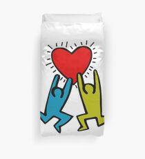 HARING - True Love Duvet Cover