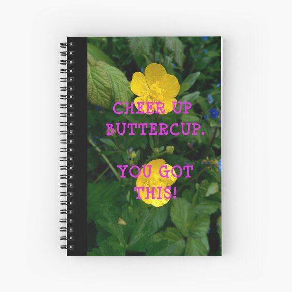 Pink Buttercup - Large Spiral Notebook