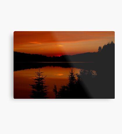 Sunset on Brewer Lake, Algonquin Park Metal Print