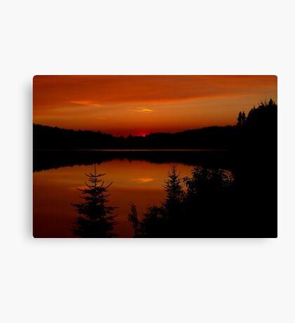 Sunset on Brewer Lake, Algonquin Park Canvas Print