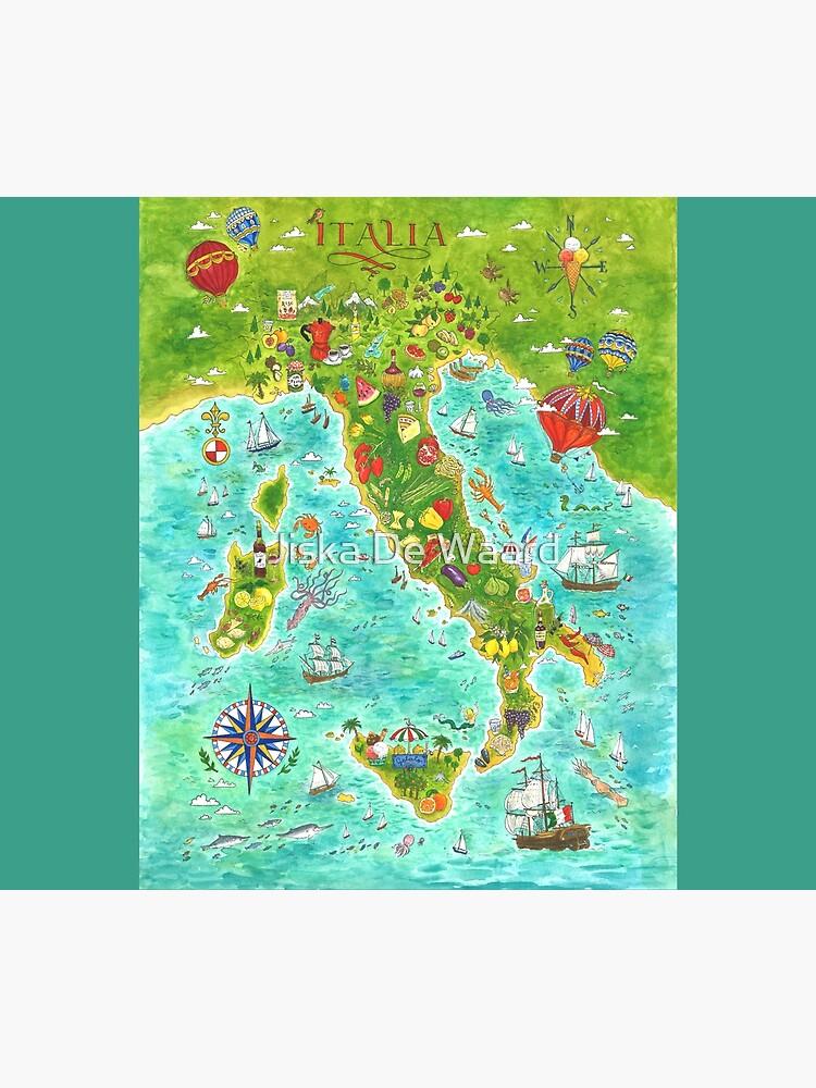 Map Italian food by Jiska-de-Waard