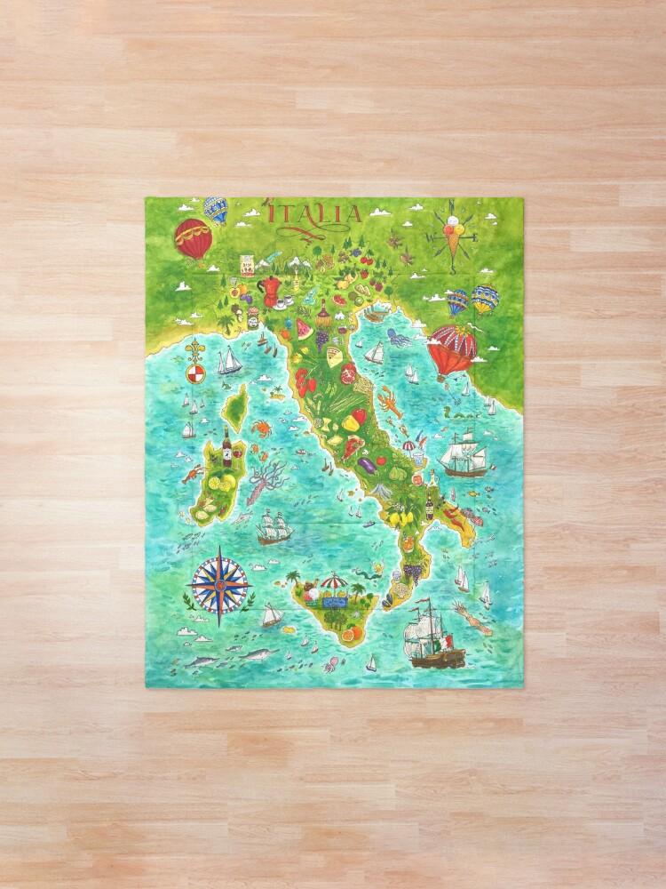 Alternate view of Map Italian food Comforter