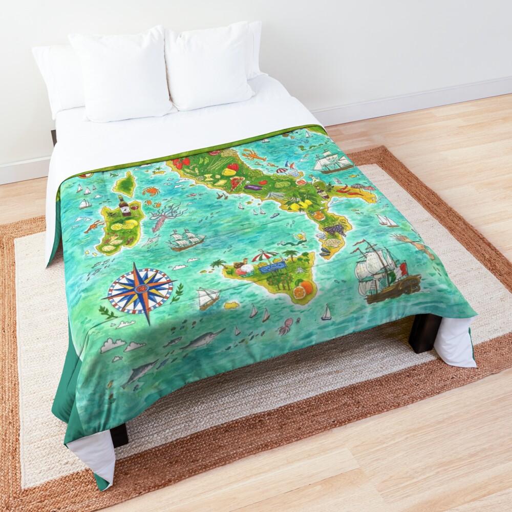 Map Italian food Comforter
