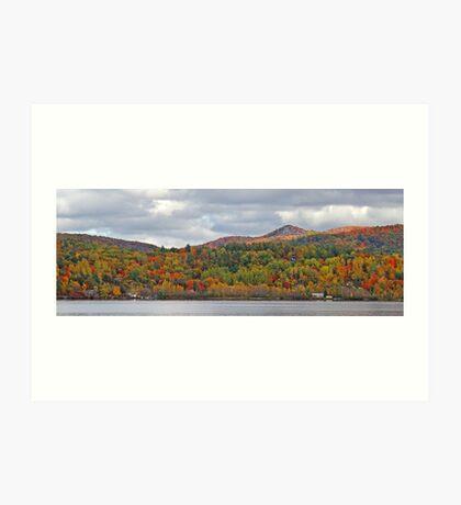 Fall in Mont Ste-Marie Art Print