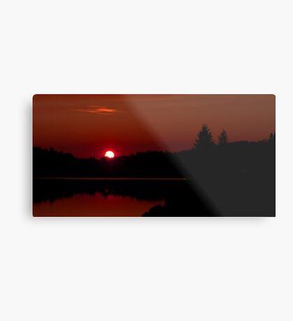 Sunset on Algonquin Park Metal Print