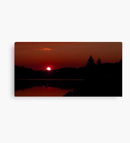 Sunset on Algonquin Park Canvas Print