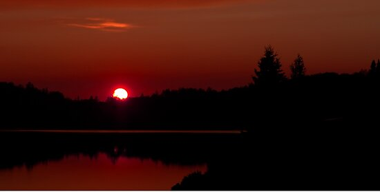 Sunset on Algonquin Park by Jim Cumming