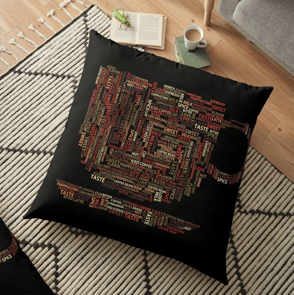 Coffee Addict Floor Pillow