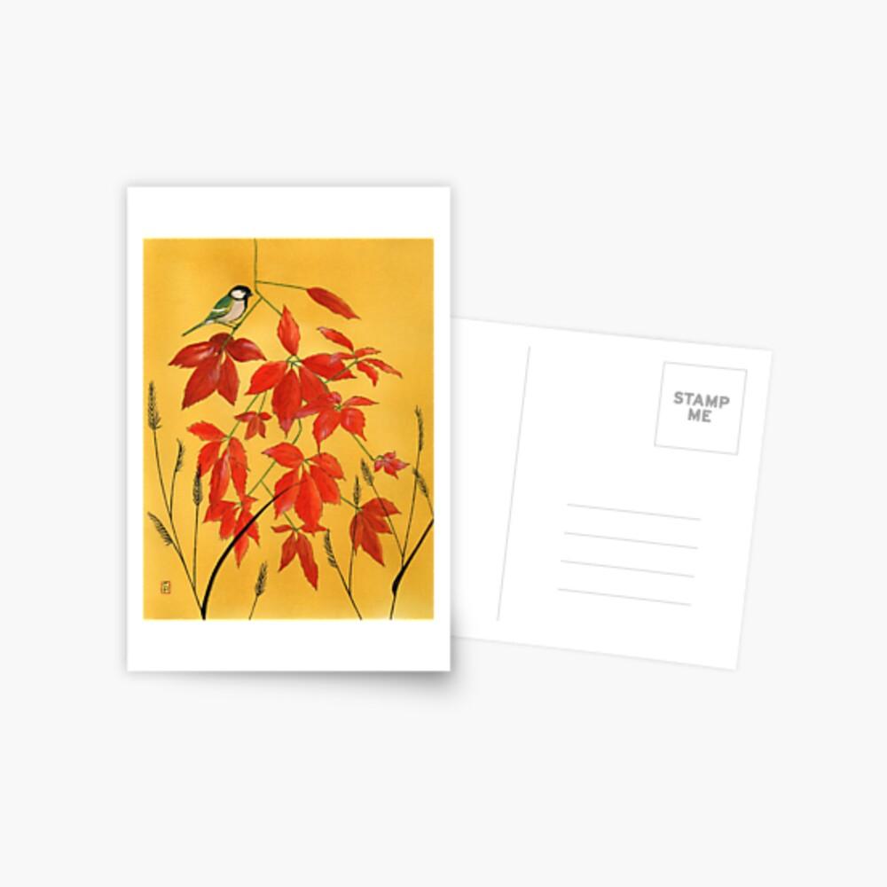 Geschenk des Herbstes Postkarte